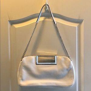 Michael Kors white leather chain link dress purse
